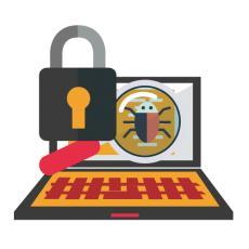 ordinateur sécurité informations cadenas loupe