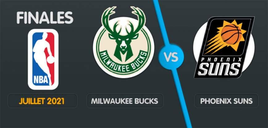 pronostic Phoenix Suns Milwaukee Bucks Finals NBA 2021